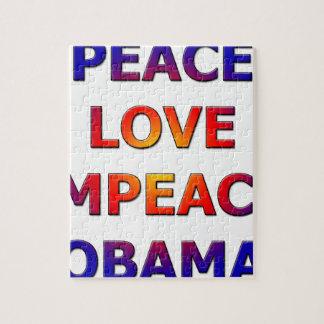 Peace Love Impeach Obama Jigsaw Puzzle