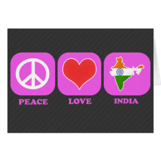 Peace Love India Greeting Card
