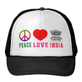 Peace Love India Trucker Hats