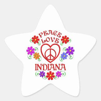 Peace Love Indiana Star Sticker