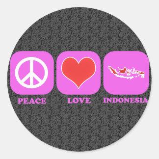 Peace Love Indonesia Sticker