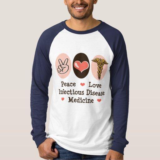 Peace Love Infectious Disease Medicine Baseball T T-Shirt