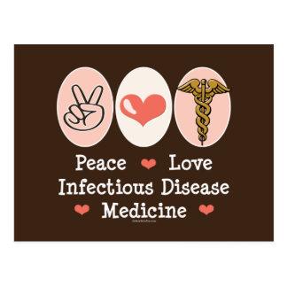Peace Love Infectious Disease Medicine Postcard