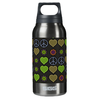 PEACE & LOVE INSULATED WATER BOTTLE