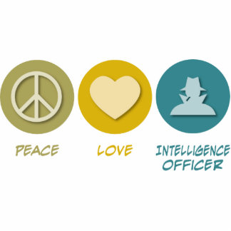 Peace Love Intelligence Officer Photo Cut Outs
