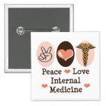 Peace Love Internal Medicine Button
