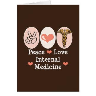 Peace Love Internal Medicine Greeting Card