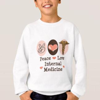 Peace Love Internal Medicine Kids Sweatshirt