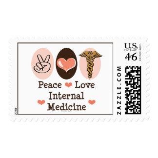 Peace Love Internal Medicine Postage Stamps