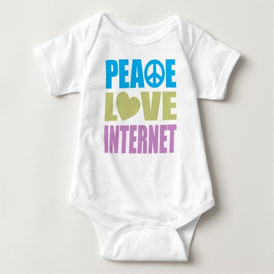 Peace Love Internet Baby Bodysuit