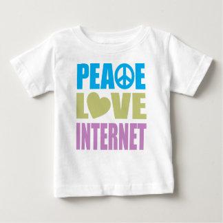 Peace Love Internet Baby T-Shirt