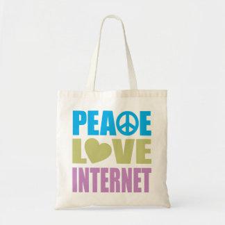 Peace Love Internet Budget Tote Bag