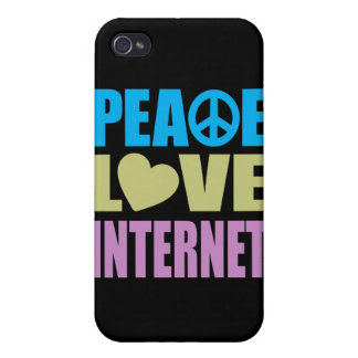 Peace Love Internet Cover For iPhone 4