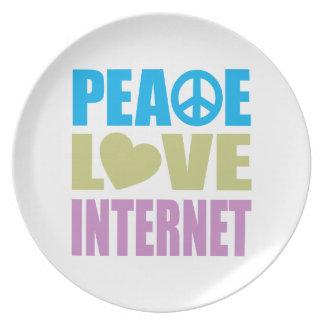 Peace Love Internet Melamine Plate