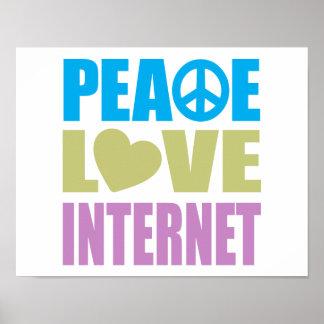 Peace Love Internet Poster