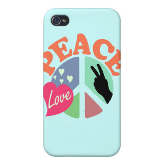 Peace Love iPhone 4 Cover