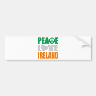 Peace Love Ireland Bumper Stickers