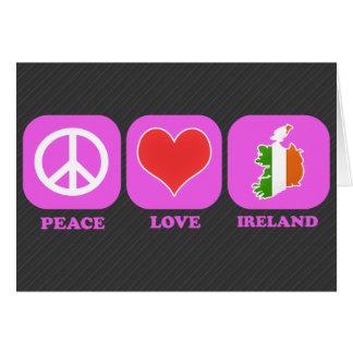 Peace Love Ireland Greeting Card