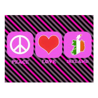 Peace Love Ireland Postcard