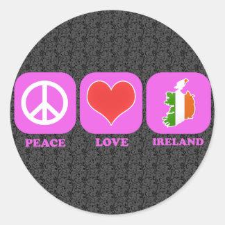 Peace Love Ireland Stickers