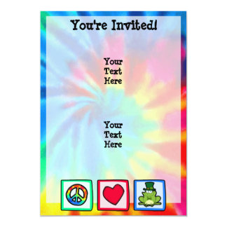 Peace, Love, Irish Frog Card