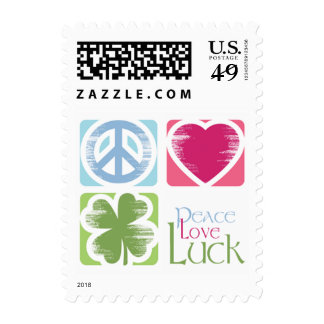 Peace, Love & Irish Luck (small) Postage