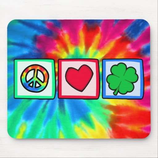 Peace, Love, Irish Mousepads