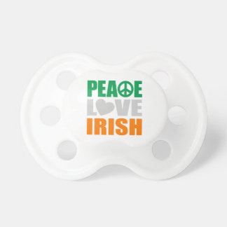 Peace Love Irish Pacifiers