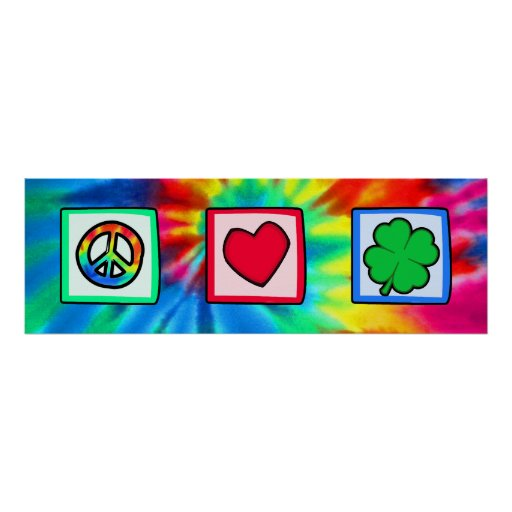 Peace, Love, Irish Poster