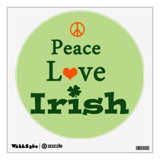Peace, Love, Irish Room Graphic
