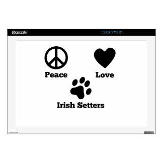 "Peace Love Irish Setters Skin For 17"" Laptop"