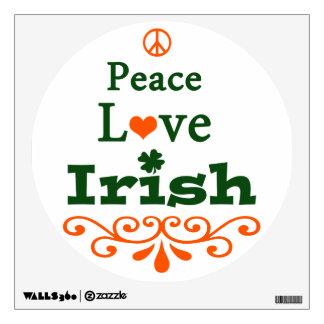 Peace, Love, Irish Wall Decals