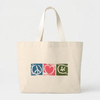 Peace Love Islam Large Tote Bag