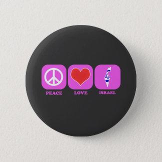 Peace Love Israel Pinback Button