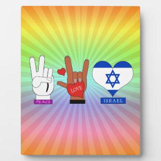 PEACE, LOVE, ISRAEL PHOTO PLAQUES