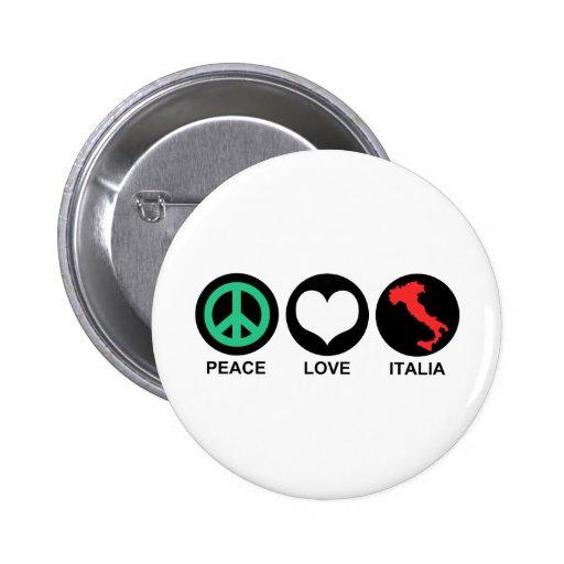 Peace Love Italia 2 Inch Round Button