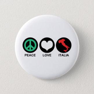Peace Love Italia Button