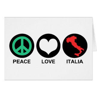 Peace Love Italia Card