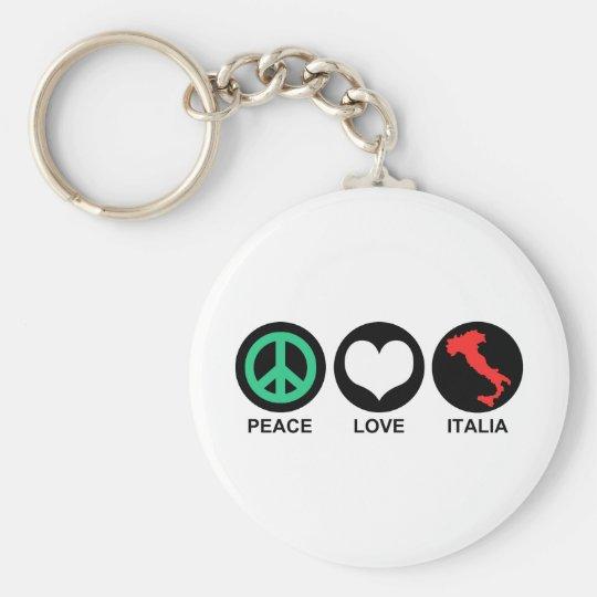 Peace Love Italia Keychain