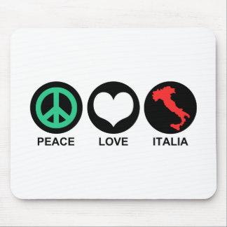Peace Love Italia Mouse Pad