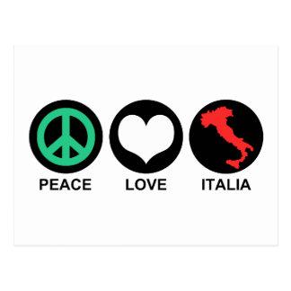 Peace Love Italia Postcard