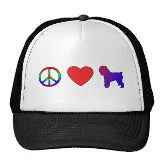 Peace Love Italian Greyhounds Hats