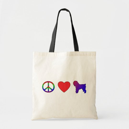 Peace Love Italian Greyhounds Tote Bag