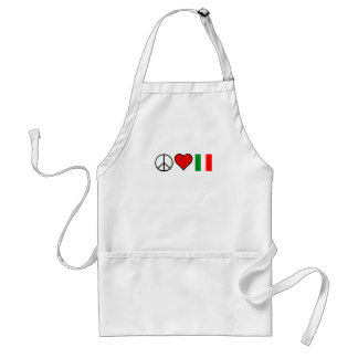 Peace Love Italy Adult Apron
