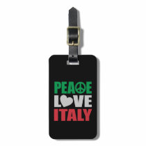 Peace Love Italy Bag Tag