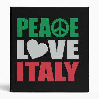 Peace Love Italy Vinyl Binder