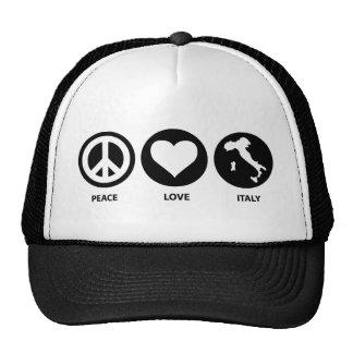 Peace Love Italy Mesh Hat