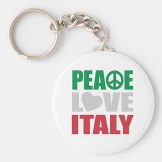 Peace Love Italy Keychain