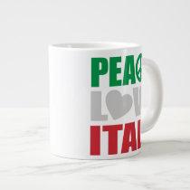 Peace Love Italy Large Coffee Mug
