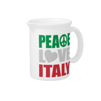 Peace Love Italy Beverage Pitcher
